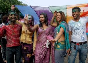 Activists celebrating in Mumbai